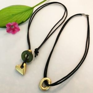 Jewelry - Black and Gold Necklaces